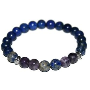 💜 Lapis Lazuli, Amethyst and Sodalite Bracelet 💙